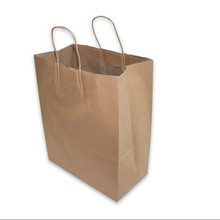Gift Packaging Bag 10pcs/lot Handle Wedding Kraft Paper Party Craft Paper Bags