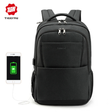 Tigernu men backpack anti theft USB charging 15.6 Laptop backpacks mochilas feminine male bagpack notebook college schoolbag(China)