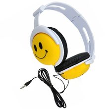 Top Deals Smile Face Boys Girls Kid Headphone Earphone Headset For Computer MP3 MP4 PSP DJ