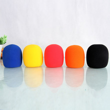10pcs/lot Foam Microphone Windscreen,high density mic sponge cover Microphone WIindshield Inner diameter 40MM, Thickness: 6MM(China)
