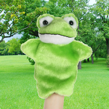 New Kids Lovely Animal Plush Hand Puppets Childhood Soft Toy Frog Shape Story Pretend Playing Dolls Gift For Children(China)