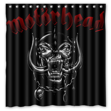 180x180cm Waterproof Fabric Motorhead Mildew Proof Shower Curtain Bathroom Curtains Free Shipping(China)