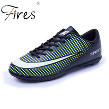 Fires Men Soccer Shoes Outdoor Turf Football Shoes Adults Boy Kid Hard Count Trainers Sports Sneakers Shoes zapatos de futbol(China)