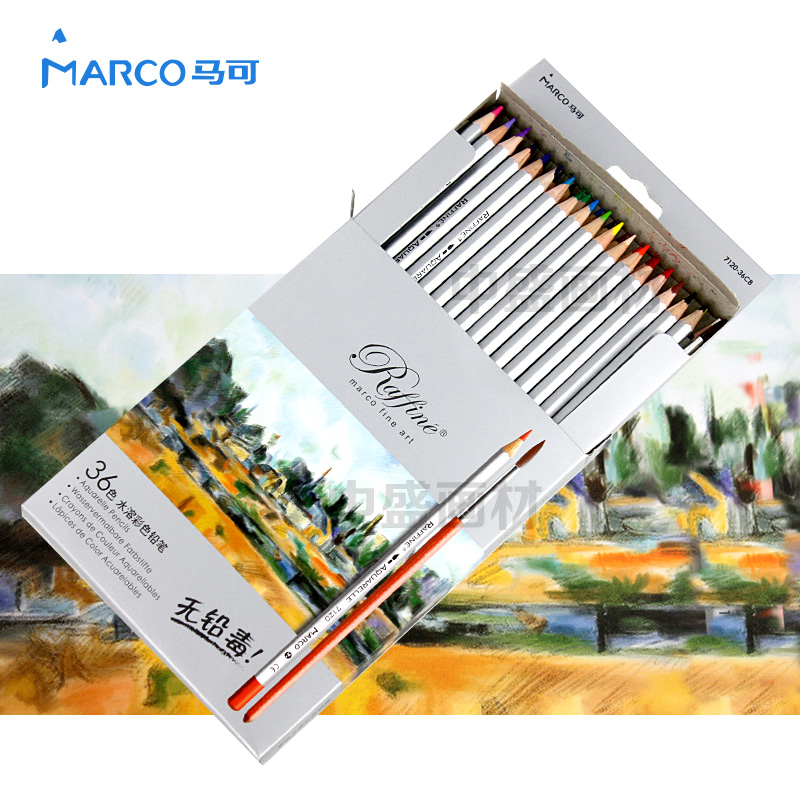Marco 7120 36 water-soluble colored pencil carton professional pencils<br>