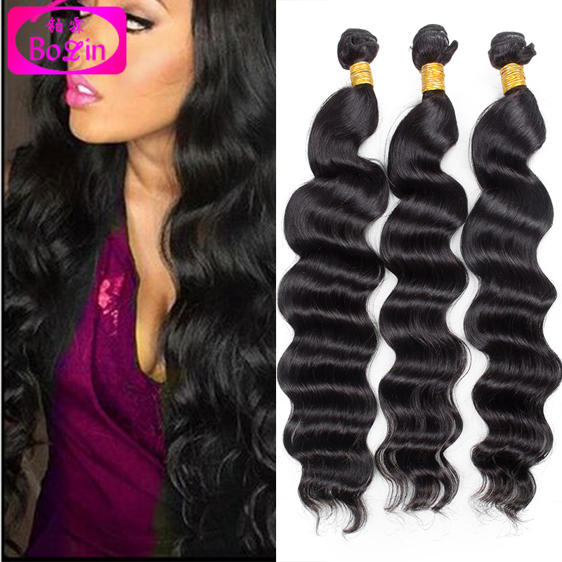 3pcs/lot brazilian hair weave bundles water wave virgin hair super wave human hair weave brazilian big deep wave hair bundles<br><br>Aliexpress