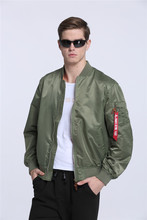 2017 High Quality Ma1 Army Green Tactical Military varsity Flight Windbreaker Pilot US Air Force Bomber Jacket for Men Clothes(China)