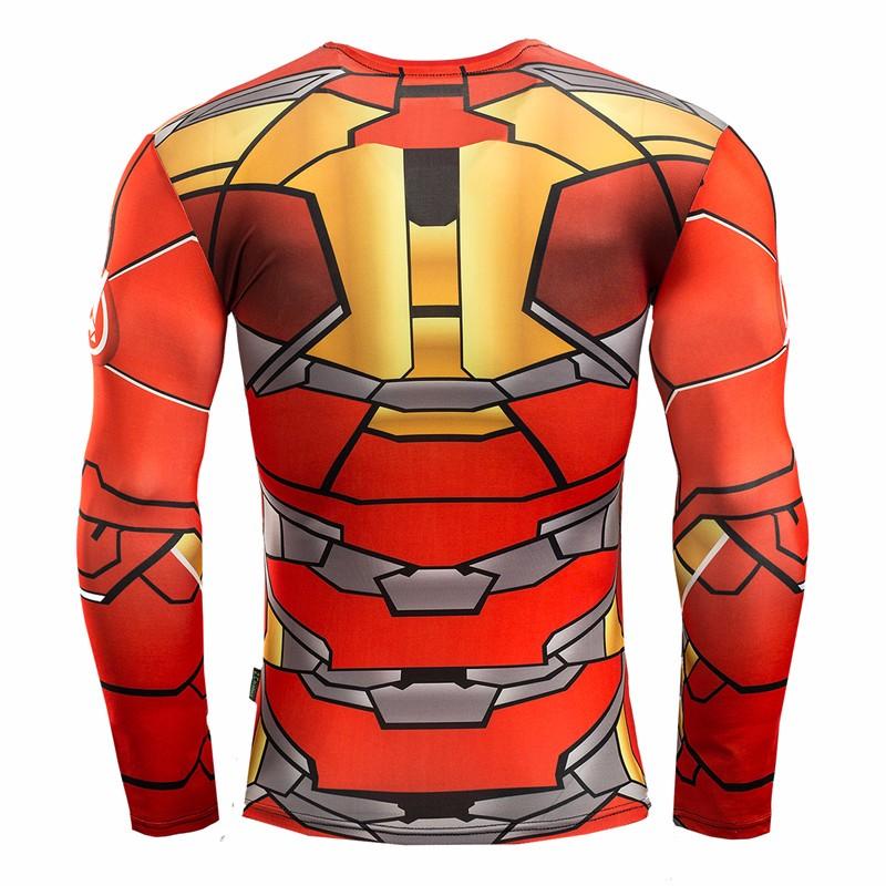 Marvel Gyms Clothing Fitness Compression Shirt Men Batman t-shirt men Long Sleeve 3D t shirt men Crossfit Tops tee shirt homme 36
