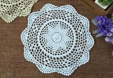 NEW Lace Cotton Crochet tablecloth Handmade Table cloth towel placemat round tea dining Table Covers nappe for wedding decor