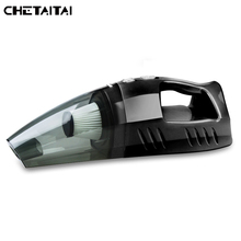 Chetaitai Car Vacuum Cleaner 12V 100W Inflation Test Tire Pressure HEPA Filter LED Light Illumination Multi Dust Collector(China)