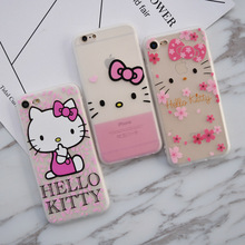 Cute Hellokitty Hello Kitty Phone Case for iPhone 6 Case Fashion Soft Silicon Cover Coque for iPhone 6 6s 7 Plus Fundas Capas