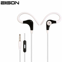 Wholesale 3.5mm Sport Earphones Wire Headphone Headset Stereo with Mic For iPhone Samsung Xiaomi MP3 xiomi MP4 Bass for Running