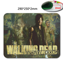 Rubber gaming mouse pad Custom The Walking Dead Fans Mouse Pad Cool Computer Mousepads in 220mm*180mm*2mm Or 290mm*250mm*2mm(China)