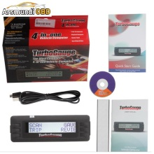 Free Shipping Turbogauge IV 4-in-1 Vehicle Computer OBDII/EOBD car trip computer / Digital Gauges/ scan gauge/ car scan tool(China)