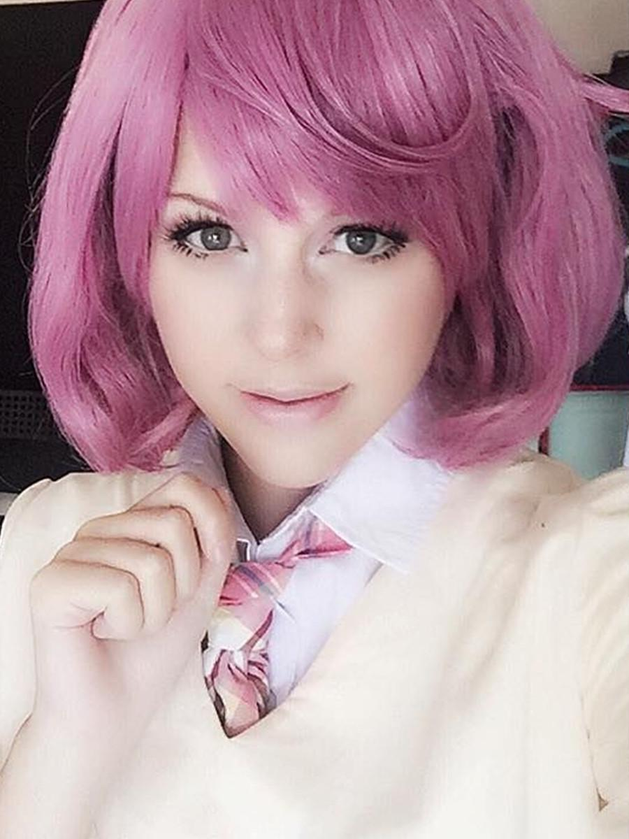 Anime Noragami Character Ebisu Kofuku Cosplay Wig Rose Pink Short Curly Cosplay Wigs mato buy red wig cheap bob wigs<br><br>Aliexpress