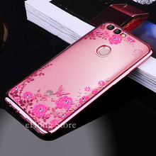 Buy Huawei P Smart Case TPU silicone Capa Flower Bling Diamond Clear Soft Case Huawei PSmart P Smart FIG-LX1 Coque 5.65 inch for $3.00 in AliExpress store