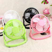 "4"" USB Gadgets Portable Mini USB Fan Laptop PC USB Powered Small Cooling Ventilador Desk Computer Summer Fan for Home Office(China)"