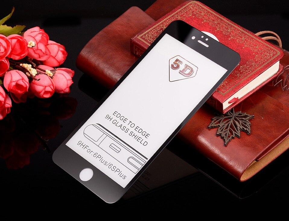 5D Glasses for iPhone 6 6s plus Glass Film Full Cover iphone6 Screen Protector for iPhone 6 6s 7 8 plus x Tempered Glass 3D 4D (11)-2