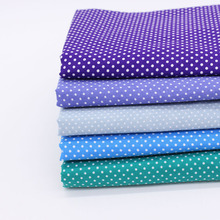 5pcs/lot Assorted Navy Anchor Cotton Fabric Lot Stripe Polka Dot Cloth For Handmade Patchwork Sewing Quilting 50*50cm(China)