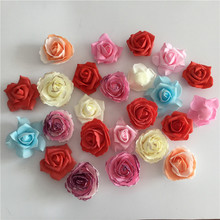 Different Design Selection! EVA Foam Flower Heads For Wedding Decoration Hair Flower Accessories DIY Wreath Wrist Corsage Dress