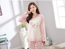 2017no brand  new arrival women sleeping 100%cotton pajamas from size M to xxl free shipping