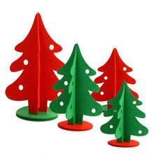 Non-woven Fabric Christmas Trees Xmas Decoration Table Office Home Hotel Restaurant Ornaments 20/30/40cm Red Green Craft DIY 1PC(China)