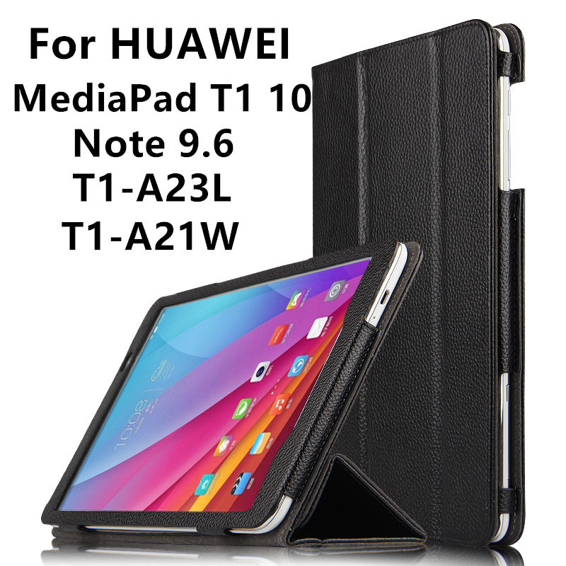 Case Cowhide For Huawei MediaPad T1 10 Genuine Protective Smart Cover Leather Tablet For Note 9.6 T1-A21W T1-A23L Protector T1<br>