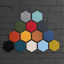 Hot 1pc Home Multipurpose Creative Felt Hexagon Colorful Wall Sticker Decorative Sheet Mural Ornament 2017