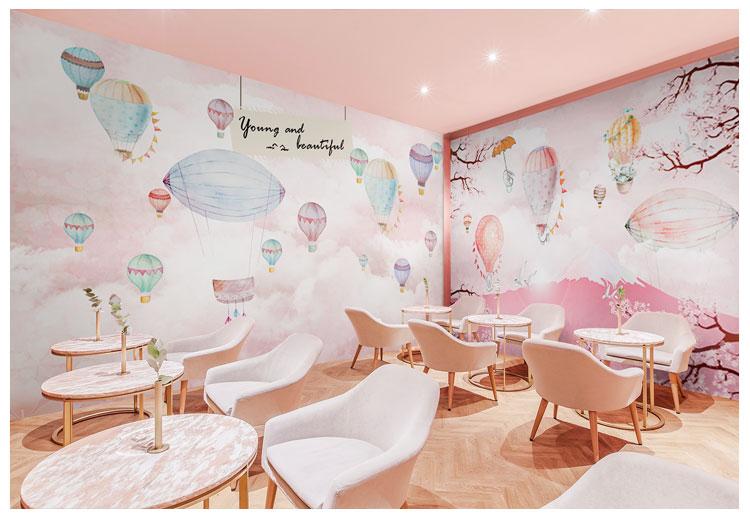 HTB19mSUfXkoBKNjSZFEq6zrEVXax - Pink Sky Cloud 3d Cartoon Wallpaper Murals for Girls Room
