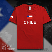 Chile men t shirts Chilean 2017 jersey CL nation team 100% cotton t-shirt meeting fitness clothing sporting tees country flag
