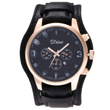 Fashion Sports Gold Dial Calendar Display Leather Strap Digital Men Quartz Watch High Quality Mens Watches Top Brand Luxury 311(China)
