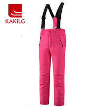 Ski Pants Women Waterproof Skiing Snowboard Pant Breathable Windproof Winter Warm Trousers Outdoor KAKILG Full Length KL7097