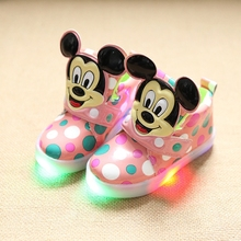 2017 luminous shoes  davidyue brand fashion cute LED lighting children shoes  Lovely kids gilrs boys  sneakers  boys girls boots