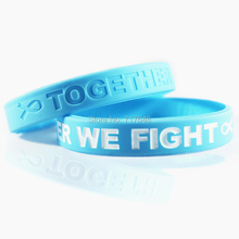 300pcs Awareness Prostate Cancer Light Blue wristband silicone bracelets free shipping by FEDEX(China)