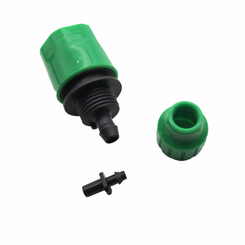 HTB19mZ0SXXXXXatXXXXq6xXFXXXG - 1 Sets Fog Nozzles irrigation system - Automatic Watering 10m Garden hose Spray head with 4/7mm tee and connector