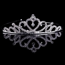 New Girl Hair Band Headband Bridal Princess Stunning Crystal Tiara Wedding Crown Hair Accessories