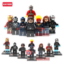 KAYGOO Marvel Super Heroes Winter Soldier Spiderman Action Figures X-Men Deadpool Ironman Deaspool Brick Set Building Block Toys