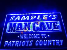 DZ036- Name Personalized Custom Man Cave Patriots Country Pub Bar Beer Neon Sign hang sign home decor shop crafts