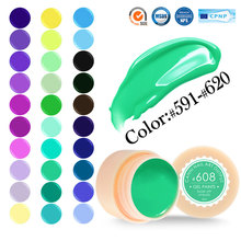 #50618 Pure Color nail Art gel Paint Gel Tips DIY Decoration CANNI Factory Price Painting LED&UV Gel 591~620(China)