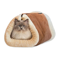 2 In 1 Removable  Cat Bed Tunnel Fleece Tube Dog Puppy Mat Indoor Cushion House  Kennel Cage Dog Cat Mat
