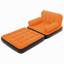 4433 hh# DEA#The quality of fashion suede inflatable recliner cr lazy sofa bed at noon gas FREE SHIPPING(China)