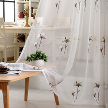 1 Pcs White Embroidered Fabric for Window Curtain Flower Pattern Tulle Fabrics Home Living Room Bedroom Decoration Super Quality