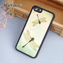 MaiYaCa Spring Dragonfly Animal soft mobile cell Phone Case Cover For iPhone 7 Plus Custom DIY cases luxury shell(China)