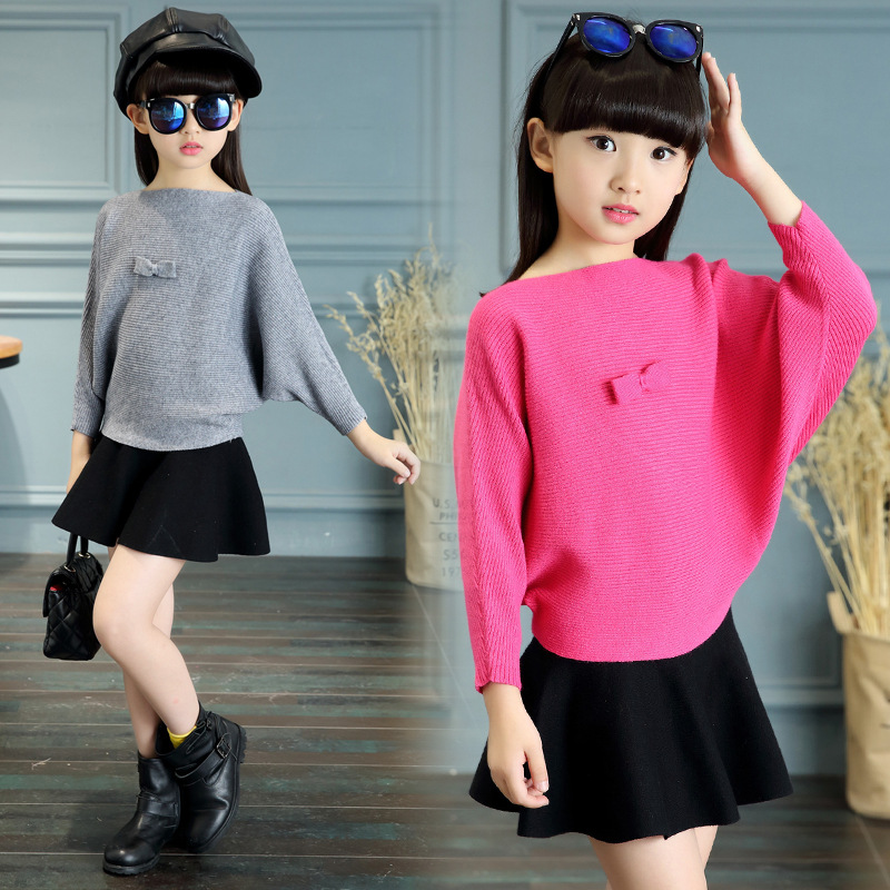 2017 spring autumn kids clothing sets litter girl sweater tops and skirt set suits children clothes set suits girls tracksuits<br>