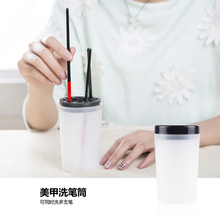 Ikonna Beautiful Wash Pen Container First Articles Brush holder First Tool Crystal Carving Fast Dry Cleaning(China)