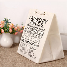 Household Cotton And Linen Waterproof Laundry Basket Toy Box Dirty Clothe Storage Basket Shopping Bag Storage Bag