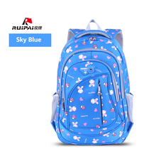 RUIPAI Backpack Schoolbag Cartoon Kids School Bag For Girls Boys Hello Kitty Backpack Cute Lovely Rabbit Bags Mochila Rucksack(China)