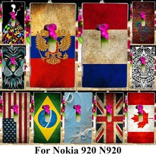 Soft TPU Covers Phone Cases For Nokia Lumia 920 N920 4.5 inch Covers UK Russia Flags Silicone Case Shell Skin Housing