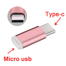 Metal Mini USB Type C Fast Charger Micro USB Cable Type-C 3.0 3.1 Data Sync charging Adapter Converter for XIAOMI redmi 4 HUAWEI