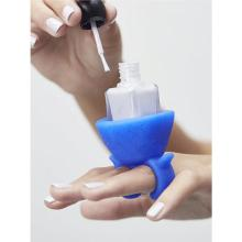 Soft Silicone Nail Polish Bottle Holder Multifunctional Wearable Nail Art Finger Polish Varnish Bottle Display Stand Holder