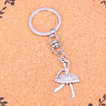 Fashion Vintage Silver Alloy ballet girl dancer Pendants keychain keyring Accessories For Car key chains Jewelry